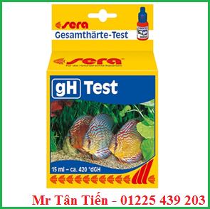 Hộp test gH trong nước của hãng Sera được dùng để kiểm tra độ cứng tổng của nước trong các ao nuôi trồng thủy sản