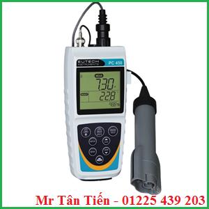 Máy đo đa chỉ tiêu cầm tay PC 450 của hãng Eutech được dùng để đo pH, mV, độ dẫn, TDS, độ mặn, nhiệt độ của nước.
