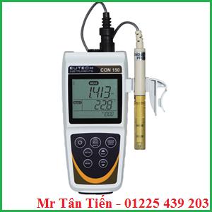 Máy đo độ dẫn cầm tay CON 150 của hãng Eutech được dùng để đo độ dẫn, nhiệt độ, TDS của nước.