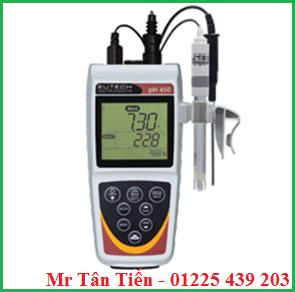 Máy đo pH cầm tay Eutech (model: pH 450) được dùng để đo pH, mV, Ion, nhiệt độ của nước.