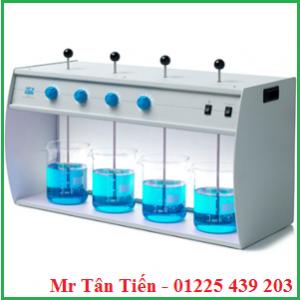Máy khuấy JarTest khác tốc độ 4 vị trí được dùng nhiều trong các phòng thí nghiệm về môi trường.