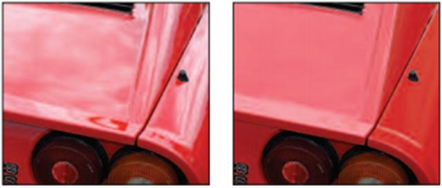 Ảnh hưởng của độ bóng đến màu sắc sản phẩm.