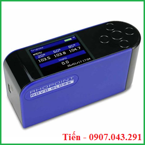 Máy đo độ bóng 3 góc 20/60/85 Rhopoint giúp đo đồng thời độ bóng của mẫu tại 3 góc 20, 60 và 85 độ