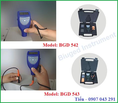 Máy đo bề dày màng sơn khô Trung Quốc BGD 542 và BGD 543
