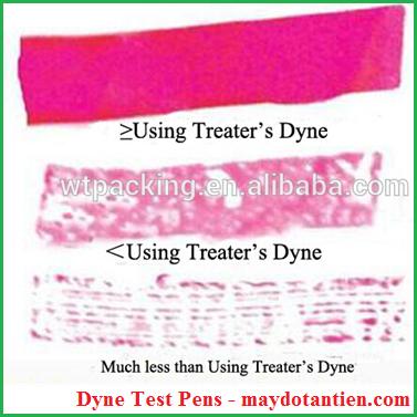 Cách dùng của bút kiểm tra sức căng bề mặt (Dyne Test Pens)