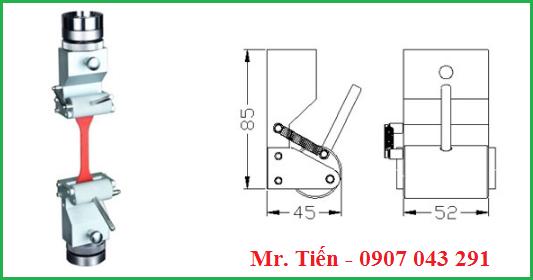 Ngàm kẹp của máy đo lực kéo đứt nhựa bao bì hãng Cometech