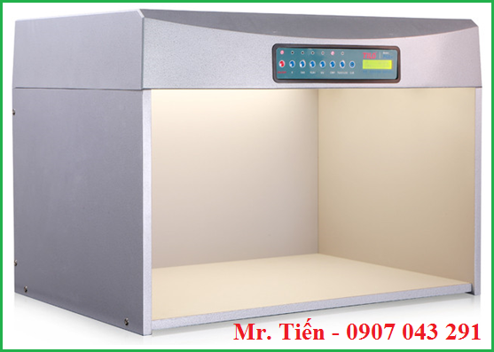 Ánh sáng của bóng đèn CWF nhiệt độ màu 4150K trong tủ so màu vải Tilo