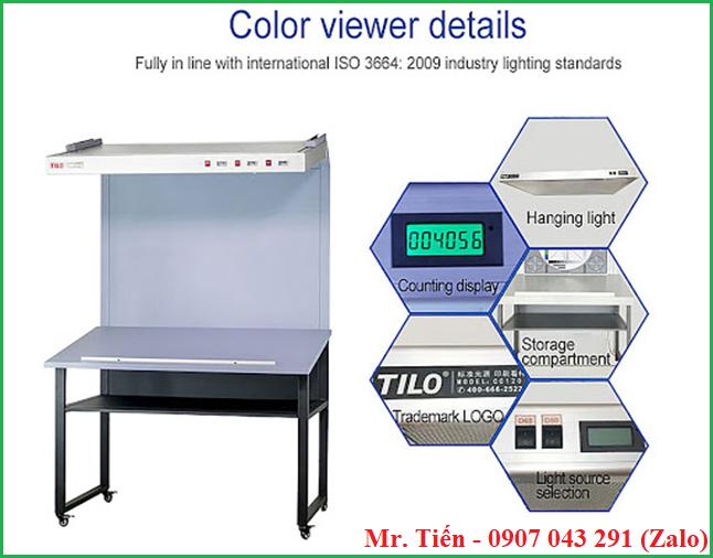 Bàn đèn so màu kiểm tra lỗi về màu sắc mẫu ngành sơn phủ, in ấn, bao bì CC120A hãng Tilo