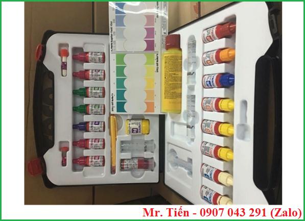 Bộ dụng cụ kiểm tra chất lượng nước ao nuôi tôm cá (Sera aqua test-box)