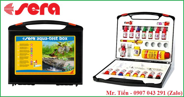 Bộ dụng cụ kiểm tra chỉ tiêu nước (Vali test 9 chỉ tiêu) hãng Sera