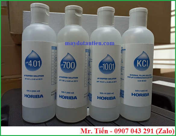 Bộ dung dịch hiệu chuẩn pH 4.01 / 7.00 / 10.01 Horiba theo tiêu chuẩn USA