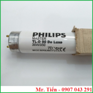 Bóng đèn ánh sáng trắng 5000K Philips Master TL-D 90 De Luxe 36W/950 Made in Poland