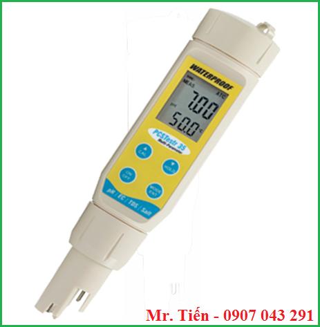 Bút đo đa chỉ tiêu nước giá rẻ PCSTestr 35 hãng Eutech