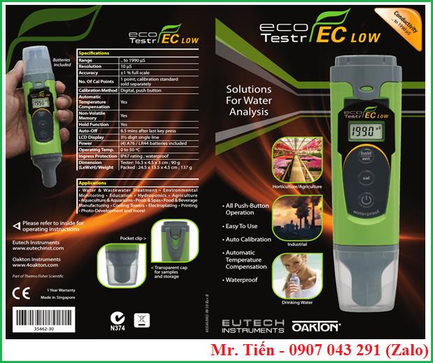 Bút đo độ dẫn điện của nước EcoTestr EC hãng Eutech