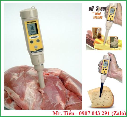 Bút đo độ pH của thịt, bánh mì, phô mai, trái cây,... pHSpear hãng Eutech