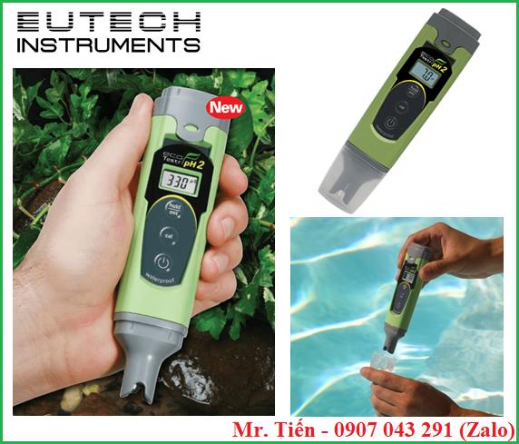 Bút đo pH nước ao nuôi tôm cá Ecotestr pH2 Eutech