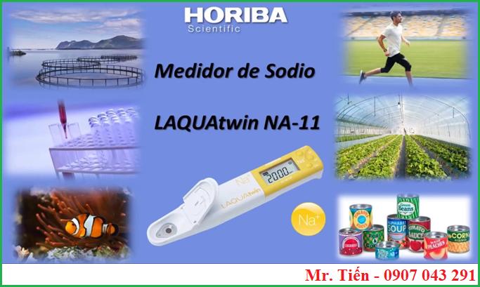 Bút LAQUAtwin Na+ meter Horiba đo Natri trong đất, rau củ, thực phẩm đóng hộp, ao nuôi cá,.....