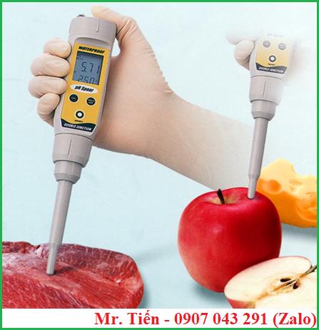 Bút pH spear đo trực tiếp pH của thịt, trái cây một cách nhanh chóng, chính xác, tiện lợi