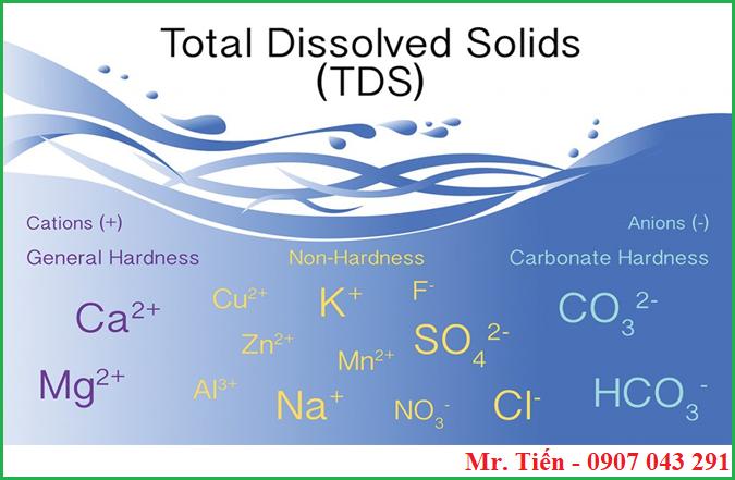 Các ion phát sinh tổng chất rắn hòa tan trong nước TDS