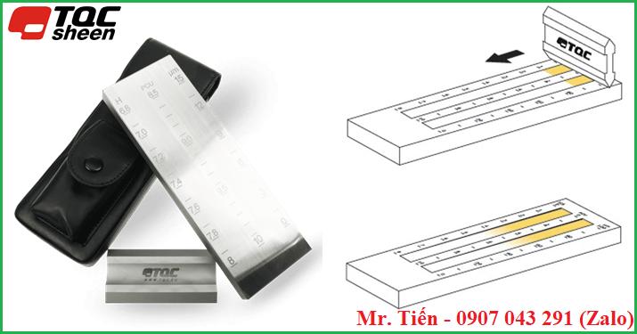 Cách dùng của dụng cụ đo độ mịn sơn hãng TQC Sheen