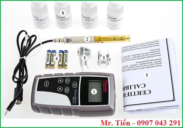 Cung cấp bao gồm của máy đo độ mặn dạng cầm tay Salt 6+ hãng Eutech