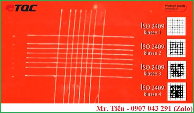Đánh giá độ bám dính màng sơn khô theo tiêu chuẩn ISO 2409