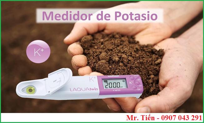 Đo nồng độ ion Kali trong đất trồng trọt bằng bút K-11 hãng Horiba