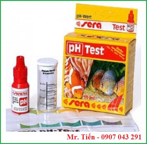 Hộp test pH nước của hãng Sera