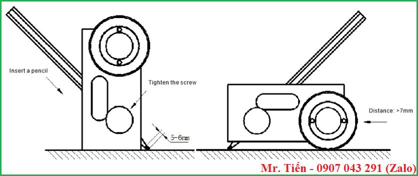 Hướng dẫn gắn bút chì và thực hiện kiểm tra độ cứng màng sơn khô