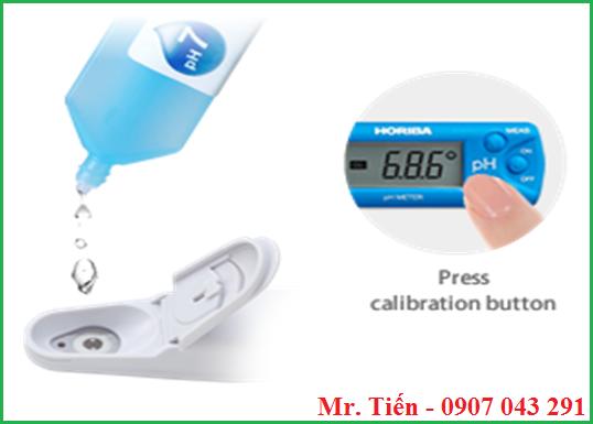 Hướng dẫn hiệu chuẩn bút đo pH 11 Horiba Nhật Bản