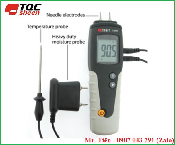 Máy đo độ ẩm gỗ có bù trừ nhiệt độ tự động hiện số (Wood Moisture Meter) LI9050 hãng TQC Sheen (Hà Lan)