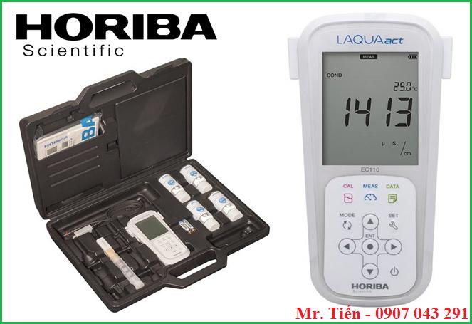 Máy đo độ dẫn điện của nước LAQUAact EC110 Horiba Scientific Nhật Bản