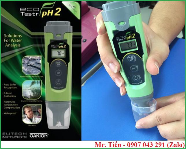 Máy đo độ pH nước ao nuôi tôm cá Ecotestr pH2 hãng Eutech