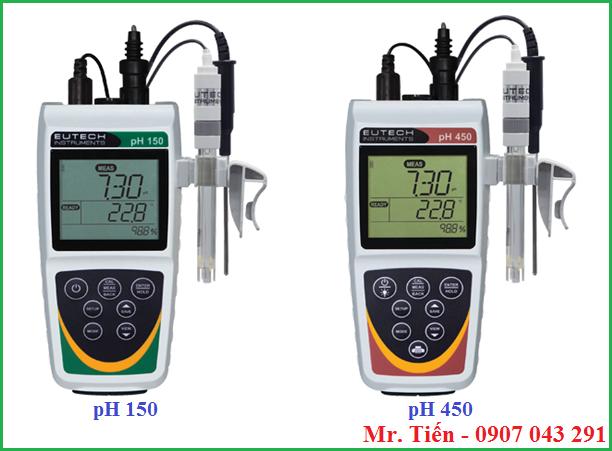 Máy đo pH cầm tay pH 150 và pH 450 hãng Eutech