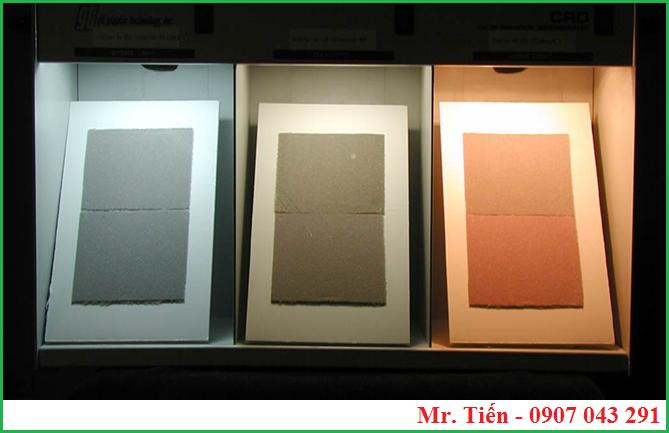 Phát hiện Meta bằng tủ phân biệt màu sắc vải (tủ so màu)