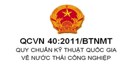 QCVN 40:2011/BTNMT Quy chuẩn kỹ thuật quốc gia về nước thải công nghiệp