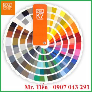 Quạt màu tiêu chuẩn RAL K7 giá rẻ