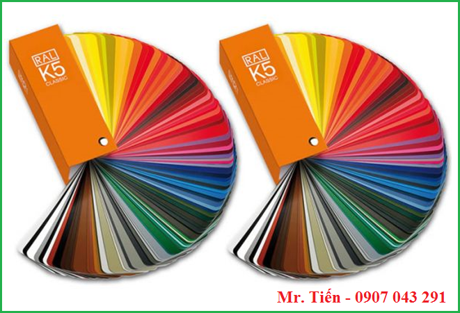 Thẻ màu sắc tiêu chuẩn RAL K5