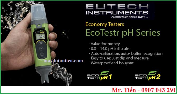 Thông số kỹ thuật của bút đo pH cầm tay Ecotestr pH2 hãng Eutech