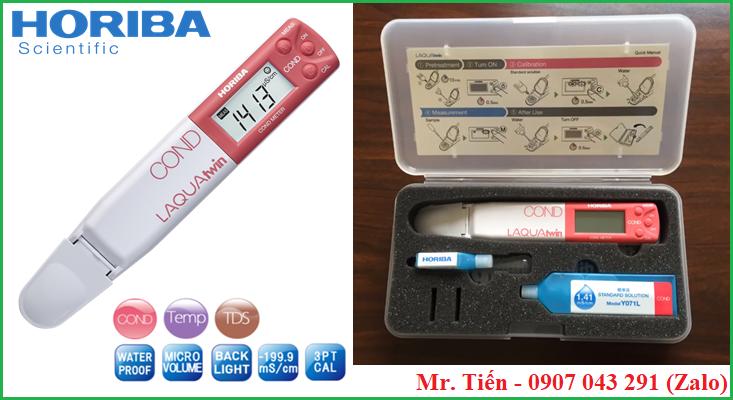 Thông số kỹ thuật của máy đo độ tinh khiết của nước EC33 hãng Horiba (Nhật Bản)