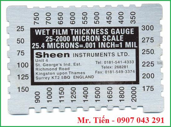 Thước đo độ dày màng sơn ướt 1150 hãng Sheen