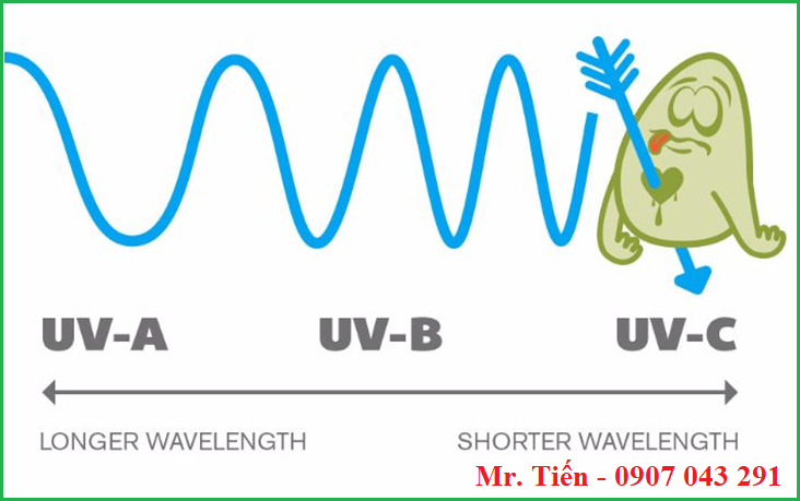 Bước sóng của tia UV càng thấp thì khả năng gây ra ung thư càng cao
